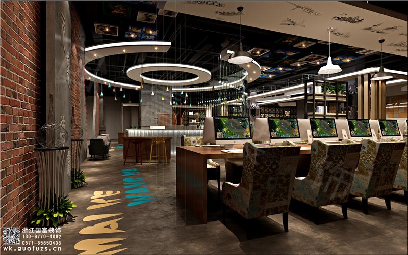 杭州特色网咖装修设计,专业网咖装修设计公司